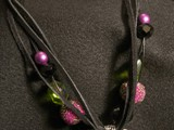 Truly In Love Swarovski Crystal Heart 3-strand black suede lace leather Eclectic mix of beads Sterling Silver Dragonfly Black Glass Ends Large Truly in Love Swarovski Crystal Heart NSCLH1PL0000018 SOLD!